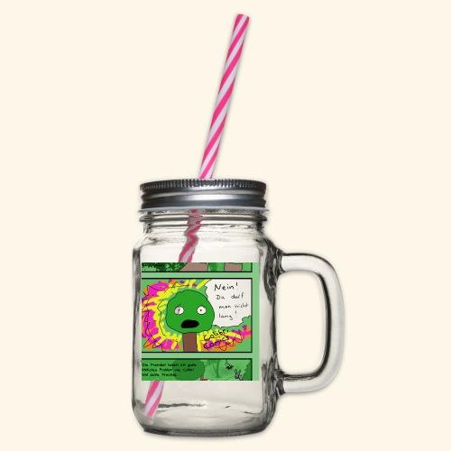 Baumi darf nicht  - Henkelglas mit Schraubdeckel