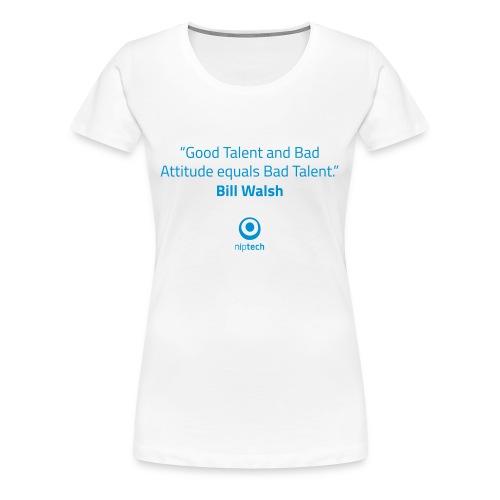 Niptech - Bill Walsh quote T-Shirt - Women's Premium T-Shirt