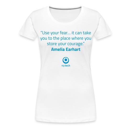 Niptech - Amelia Earhart quote T-Shirt - Women's Premium T-Shirt