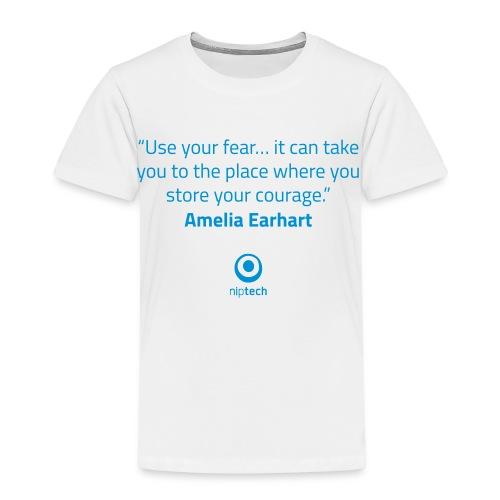 Niptech - Amelia Earhart quote T-Shirt - Kids' Premium T-Shirt