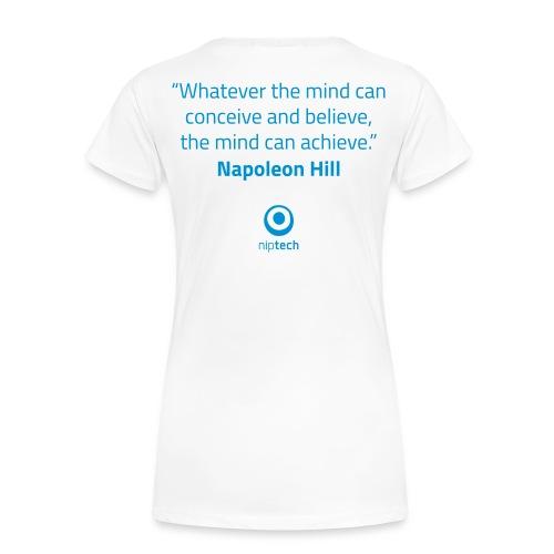 Niptech - Napoleon Hill quote T-Shirt - Women's Premium T-Shirt