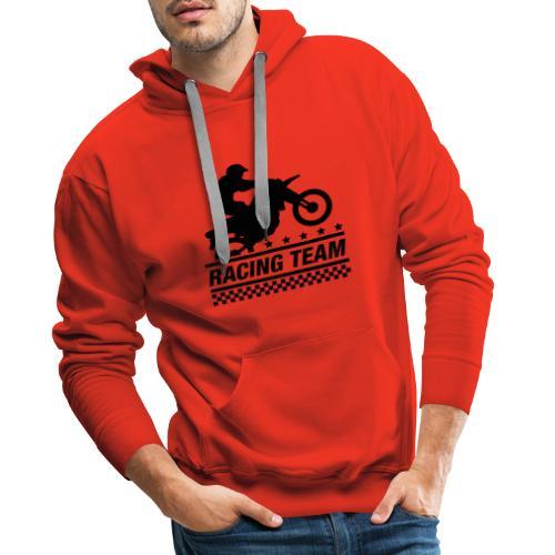 Racing Team - Sudadera con capucha premium para hombre