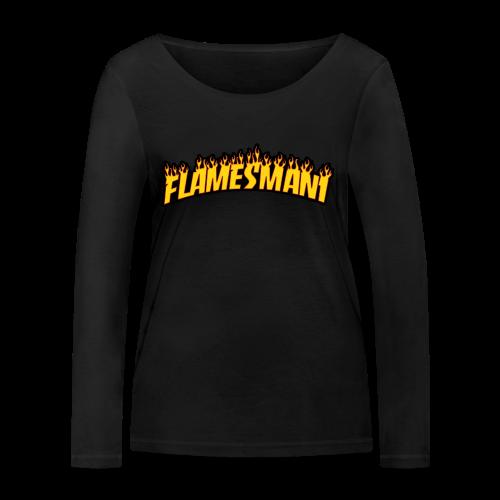 Flasher (Trasher Style) (børne størrelse) - Økologisk Stanley & Stella langærmet T-shirt til damer