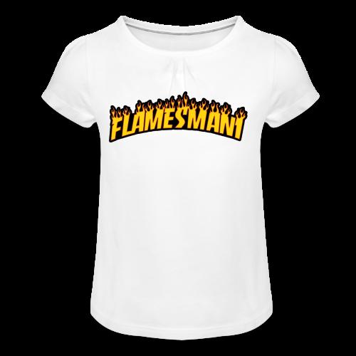Flasher (Trasher Style) (børne størrelse) - Pige T-shirt med flæser