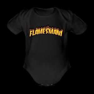 Flasher (Trasher Style) (børne størrelse) - Kortærmet babybody, økologisk bomuld