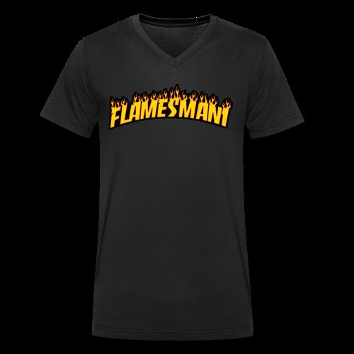Flasher (Trasher Style) (børne størrelse) - Økologisk Stanley & Stella T-shirt med V-udskæring til herrer