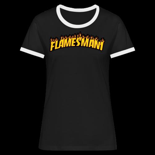 Flasher (Trasher Style) (børne størrelse) - Dame kontrast-T-shirt