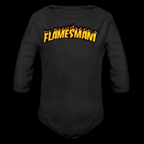 Flasher (Trasher Style) (børne størrelse) - Langærmet babybody, økologisk bomuld