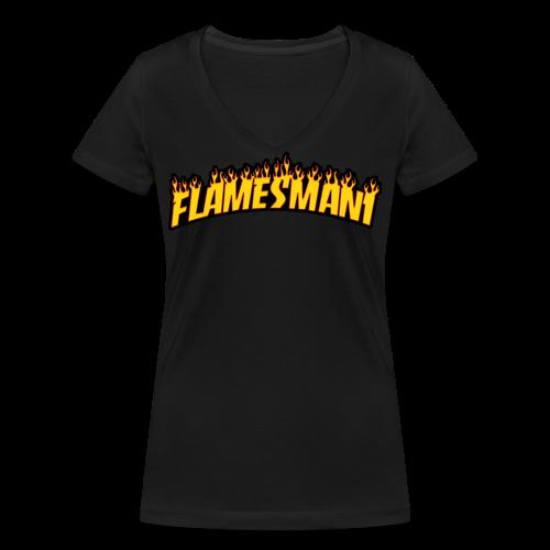 Flasher (Trasher Style) (børne størrelse) - Økologisk Stanley & Stella T-shirt med V-udskæring til damer