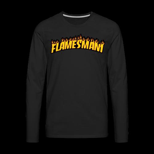 Flasher (Trasher Style) (børne størrelse) - Herre premium T-shirt med lange ærmer