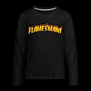 Flasher (Trasher Style) (børne størrelse) - Teenager premium T-shirt med lange ærmer