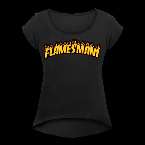 Flasher (Trasher Style) (børne størrelse) - Dame T-shirt med rulleærmer