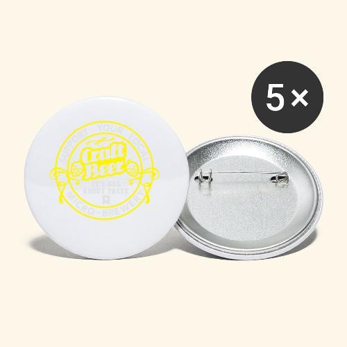 Craft Beer - Buttons klein 25 mm (5er Pack)