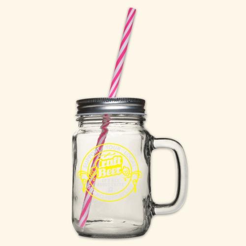 Craft Beer - Henkelglas mit Schraubdeckel