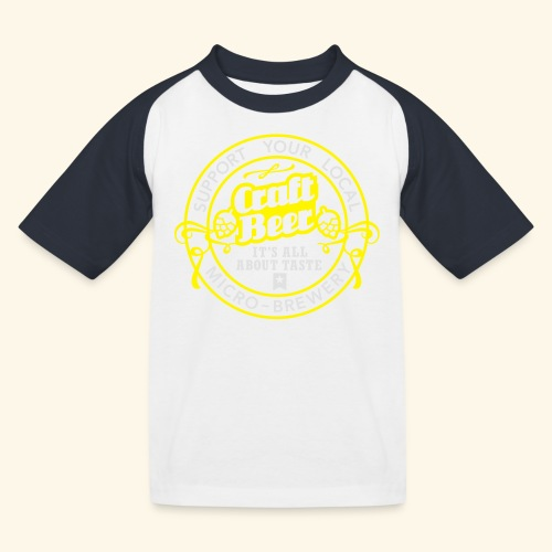 Craft Beer - Kinder Baseball T-Shirt