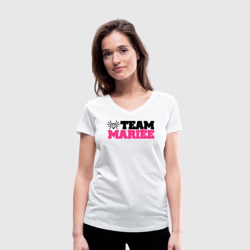 team mariée (vers.7) Tee shirts - T-shirt bio col V Stanley & Stella Femme
