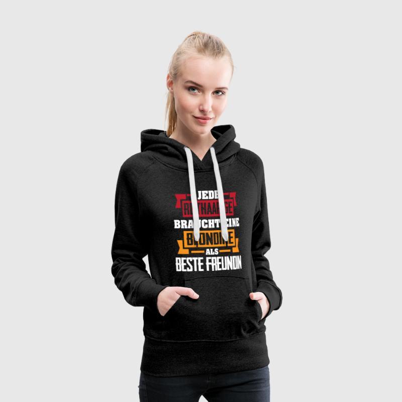 Beste Freundin Blondine Pullover & Hoodies - Frauen Premium Hoodie
