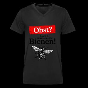 Kein Obst ohne Bienen T-Shirt - Männer Bio-T-Shirt mit V-Ausschnitt von Stanley & Stella