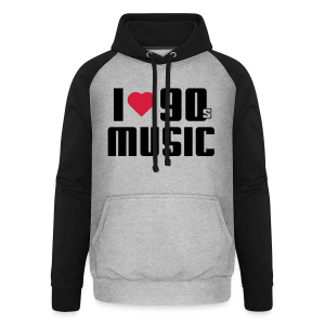 I Love 90s Music Shirt - Unisex Baseball Hoodie