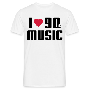 I Love 90s Music Shirt - Männer T-Shirt