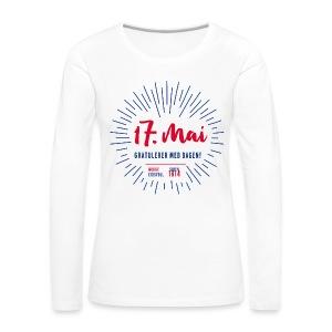 17. mai gratulasjon - Premium langermet T-skjorte for kvinner