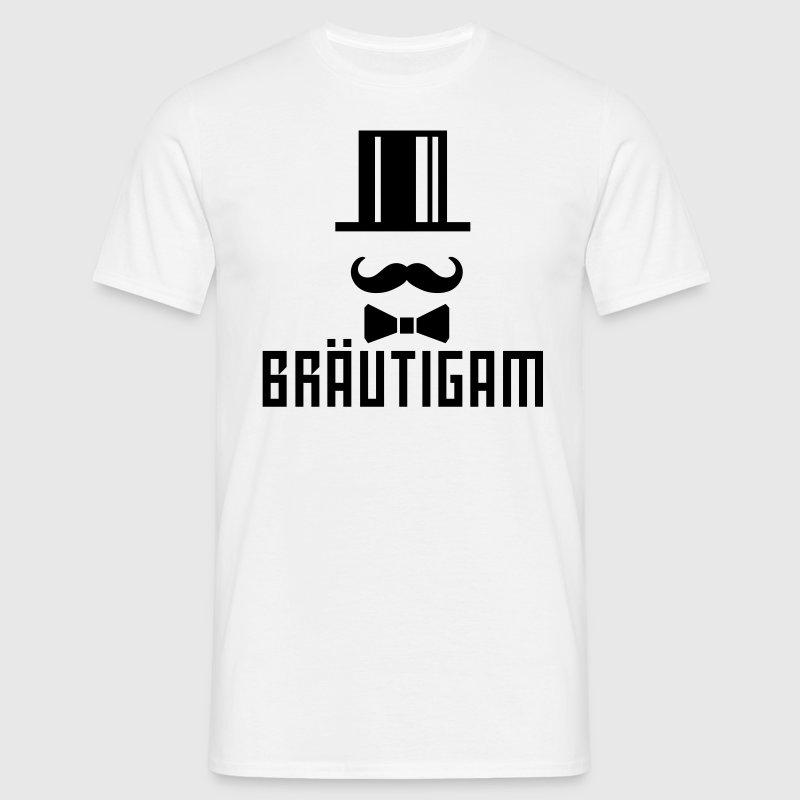 Bräutigam Zylinder JGA Junggesellenabschied T-Shi - Männer T-Shirt