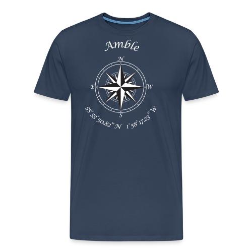 Compass (white text) - Men's Premium T-Shirt