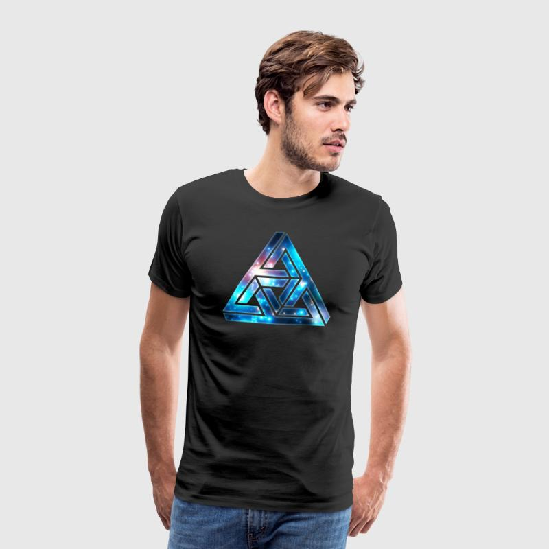 Impossible Triangle, Optical Illusion,  T-Shirts - Men's Premium T-Shirt