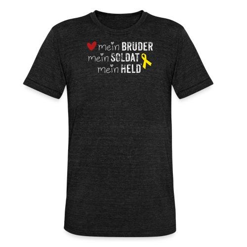 Mein Bruder, mein Soldat, mein Held  - Unisex Tri-Blend T-Shirt von Bella + Canvas