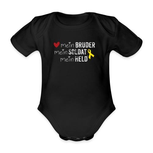 Mein Bruder, mein Soldat, mein Held  - Baby Bio-Kurzarm-Body