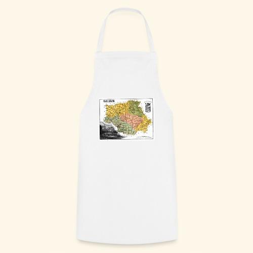 Vieille carte du Gers - Tablier de cuisine