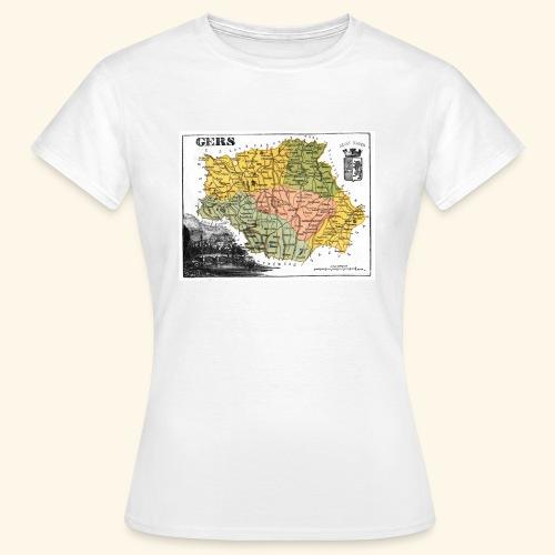 Vieille carte du Gers - T-shirt Femme