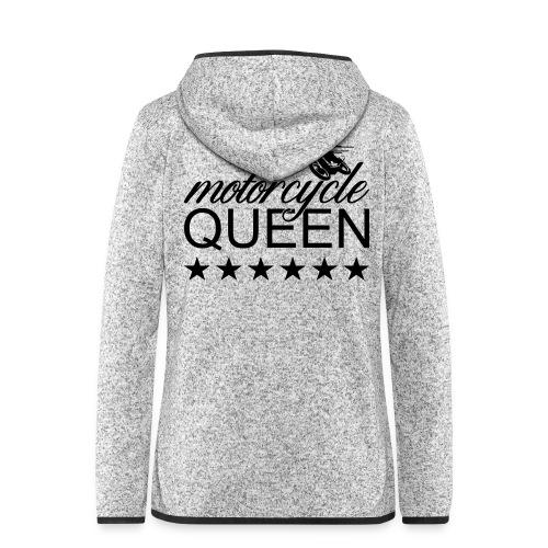 Moto Queen - Frauen Kapuzen-Fleecejacke