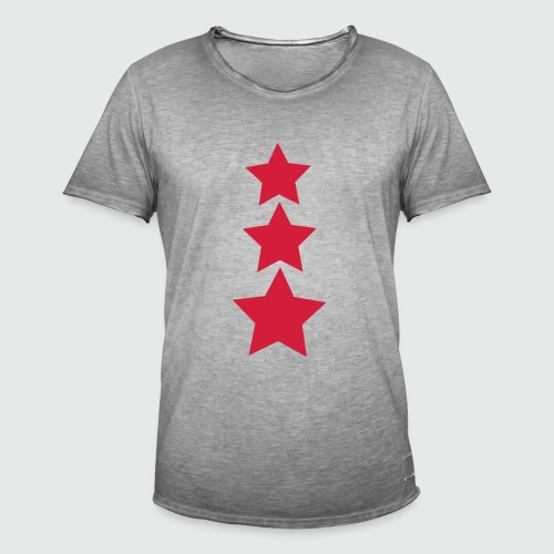M-134-schwarz-neonpink - Männer Vintage T-Shirt