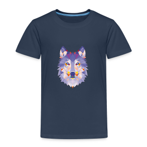 lonely wolf - Kinder Premium T-Shirt