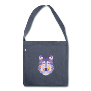 lonely wolf - Schultertasche aus Recycling-Material