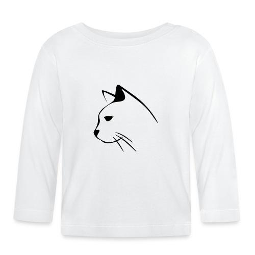 Housse de coussin Tête de Chat - T-shirt manches longues Bébé