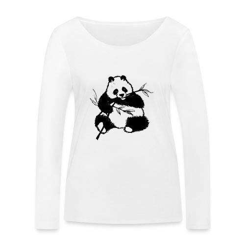 Housse de coussin Panda géant - T-shirt manches longues bio Stanley & Stella Femme
