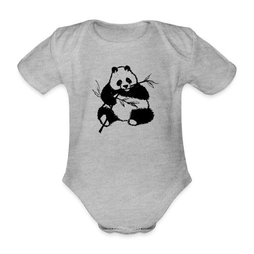 Housse de coussin Panda géant - Body bébé bio manches courtes