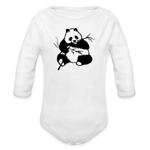 Housse de coussin Panda géant - Body bébé bio manches longues