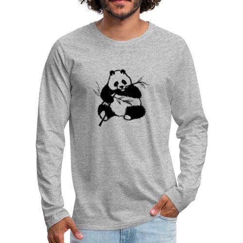 Housse de coussin Panda géant - T-shirt manches longues Premium Homme