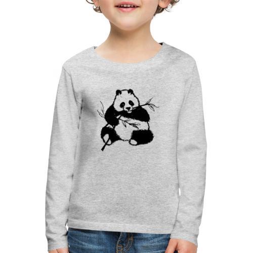 Housse de coussin Panda géant - T-shirt manches longues Premium Enfant