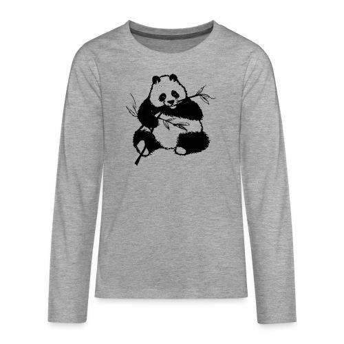 Housse de coussin Panda géant - T-shirt manches longues Premium Ado