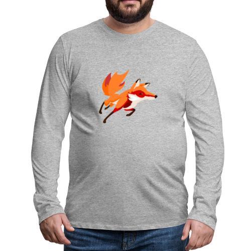 Housse de coussin Renard - T-shirt manches longues Premium Homme