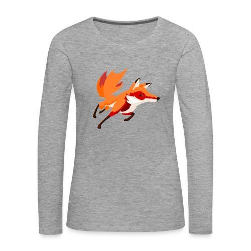 Housse de coussin Renard - T-shirt manches longues Premium Femme