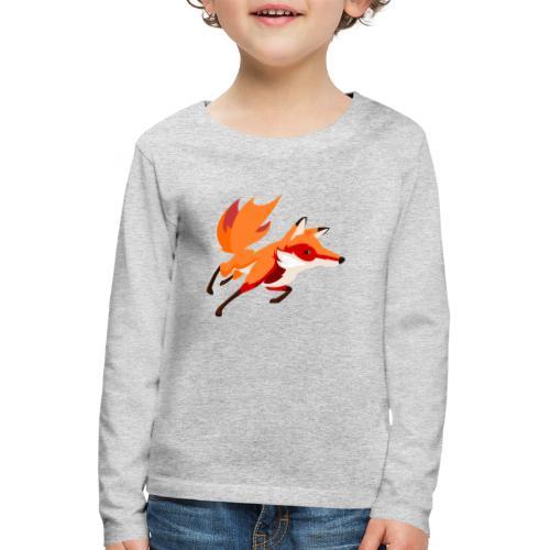 Housse de coussin Renard - T-shirt manches longues Premium Enfant