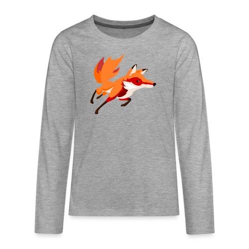 Housse de coussin Renard - T-shirt manches longues Premium Ado