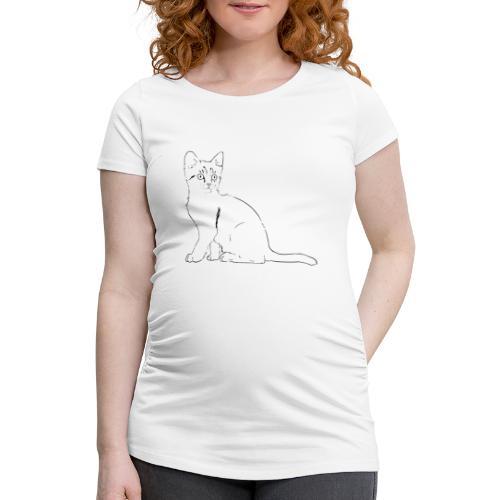 Housse de coussin Chat dessin - T-shirt de grossesse Femme