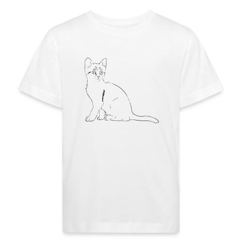 Housse de coussin Chat dessin - T-shirt bio Enfant