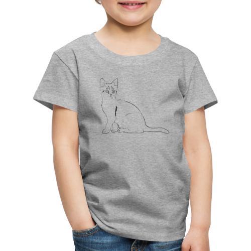 Housse de coussin Chat dessin - T-shirt Premium Enfant